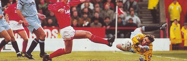 notts forest away 1992 to 93 action