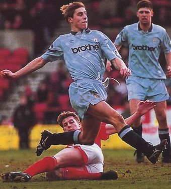 notts forest away 1992 to 93 flitcroft goal
