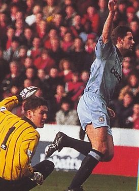 notts forest away 1992 to 93 white goal