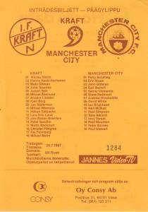 IF Kraft Friendly 1987 to 88 prog