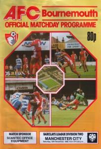 bournemouth away 1988 to 89 prog