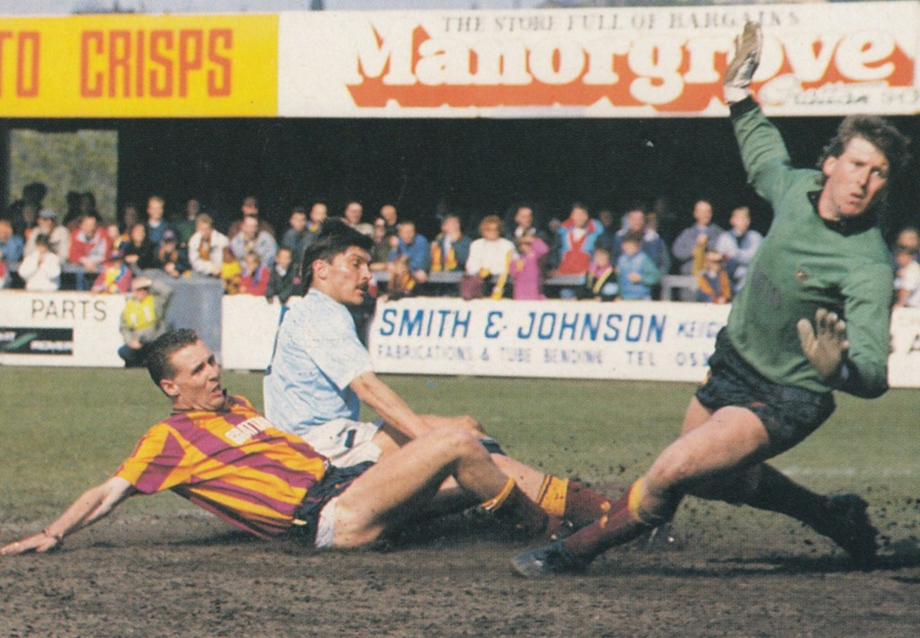 bradford away 1988 to 89 morley goal5