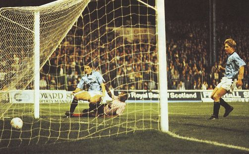 brentford home 1989 to 90 white goal