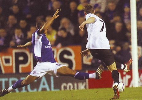 leicester away fa cup 2010 to 11 johnson goal
