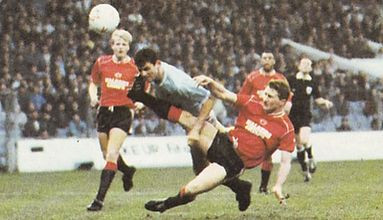 leicester home fa cup 1988 to 89 action