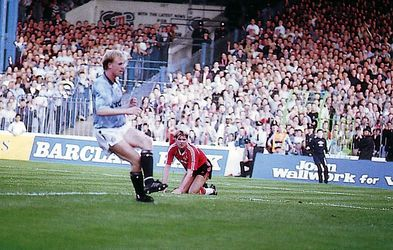 man utd home 1989 to 90 oldfield 2nd goal
