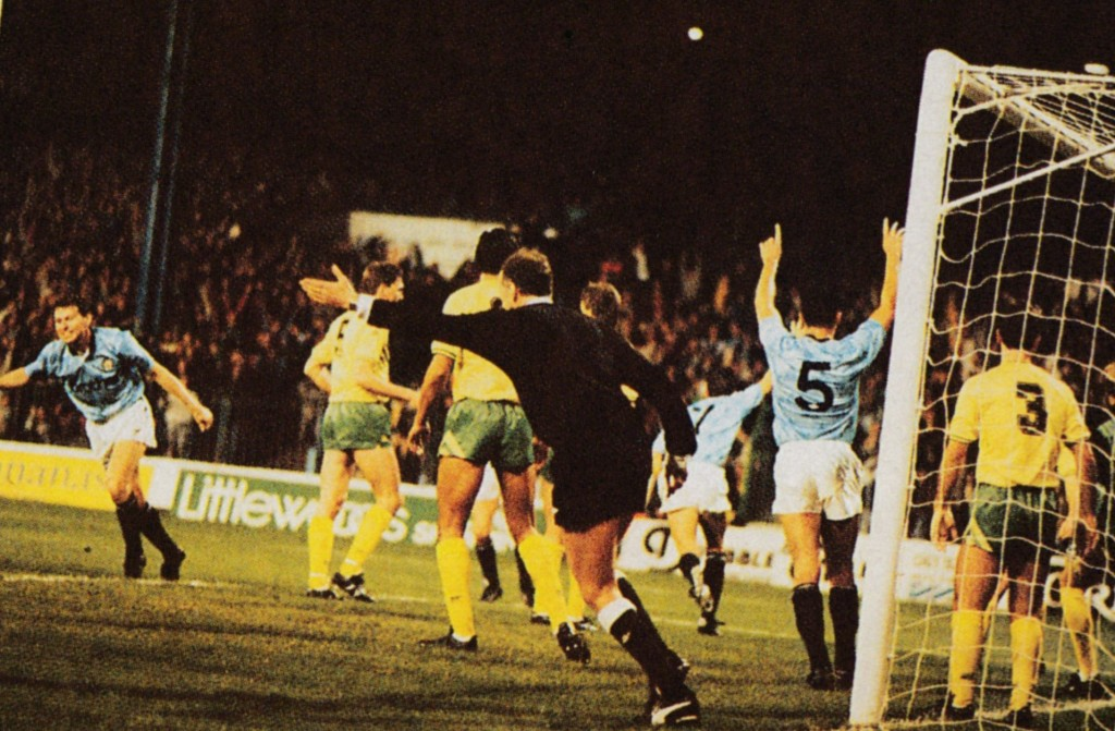 norwich lge cup home 1989 to 90 action5