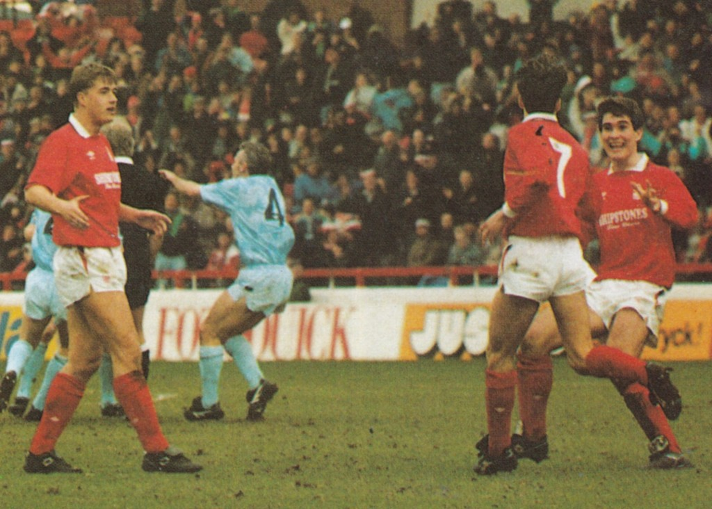 notts forest away 1989 to 90 crosbie goal6