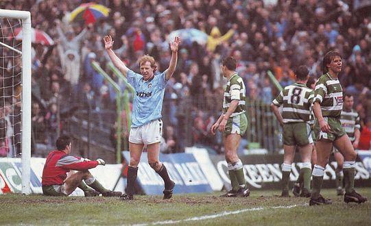 sheff weds home 1989 to 90 heath goal