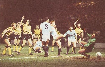 Huddersfield home replay fa cup 1987 to 88 action
