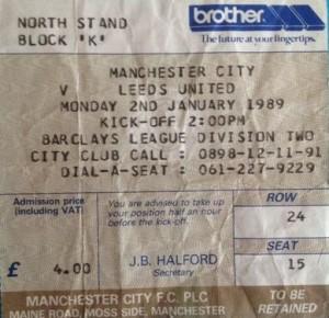 leeds hom 1988 to 89 ticket