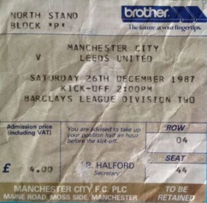 leeds home 1987 to 88 ticket