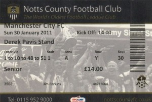 notts county away 2010 to 11 ticket