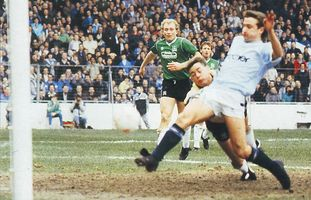 plymouth fa cup home 1987 to 88 scott goal