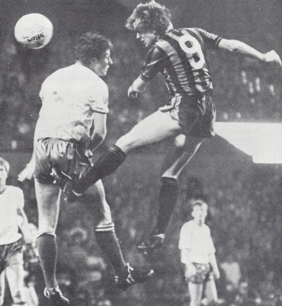 bury away cup 1985 to 86 melrose goal 4
