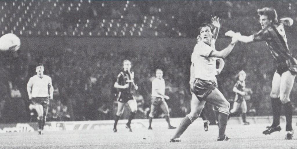 bury away cup 1985 to 86 melrose goal 5