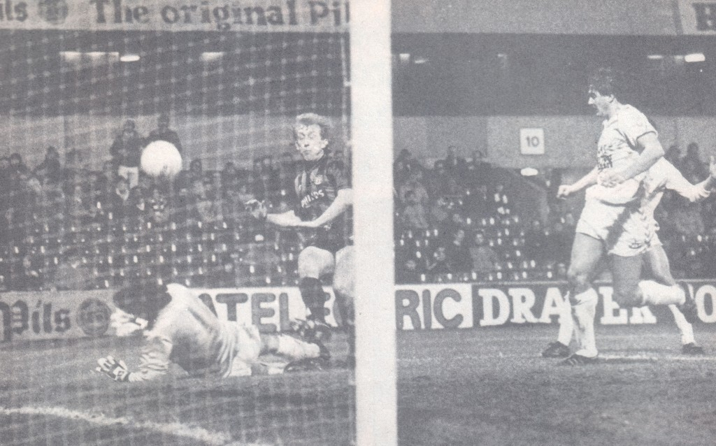 tottenham away 1985 to 86 lillis goal