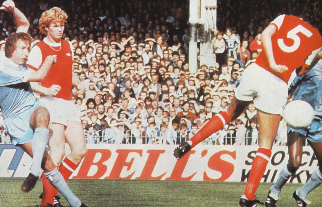 Arsenal home 1980 to 81 action2