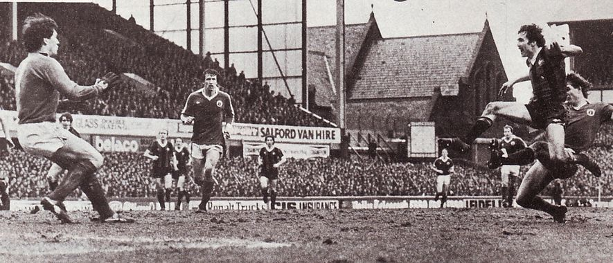 everton away FA Cup 1980 to 81 power goal3