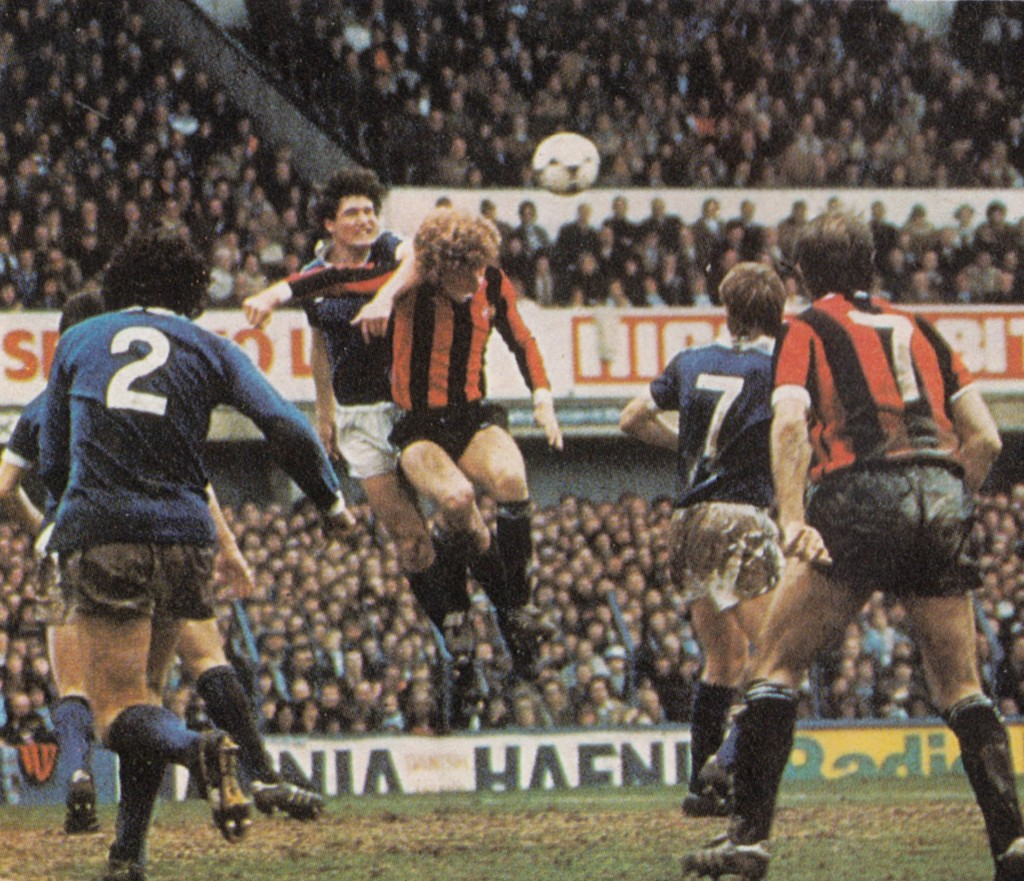 everton away fa cup 1980 to 81 action7