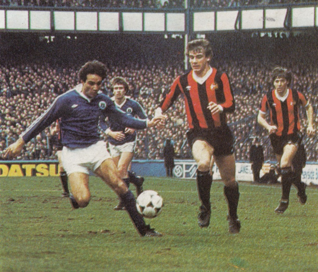 everton away fa cup 1980 to 81 action8