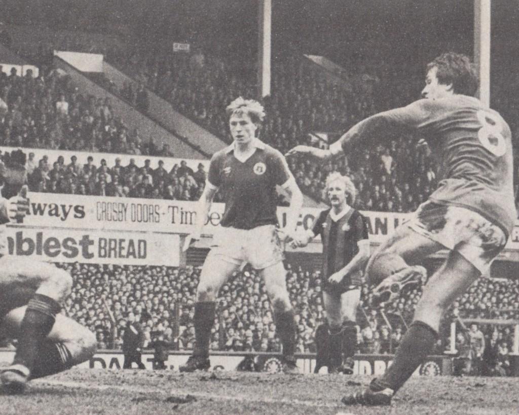 everton away fa cup 1980 to 81 eastoe goal