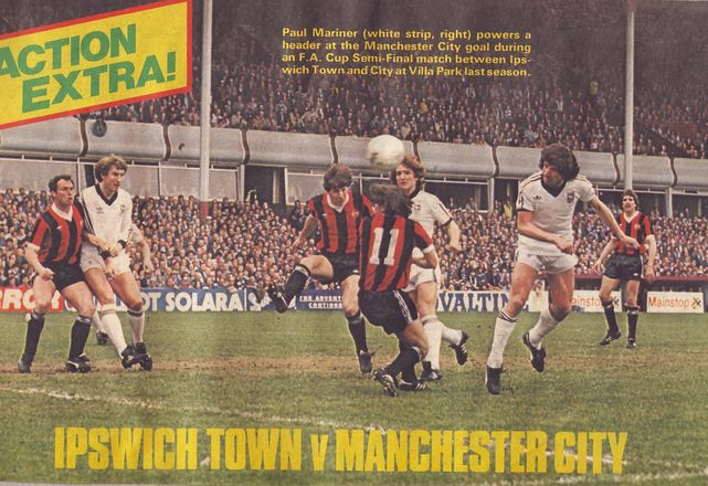ipswich fa cup semi 1980 to 81 action