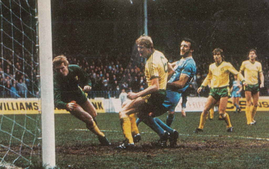 norwich home 1982 to 83 cross goal 6