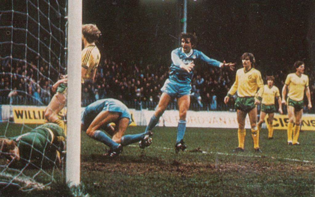 norwich home 1982 to 83 cross goal 7