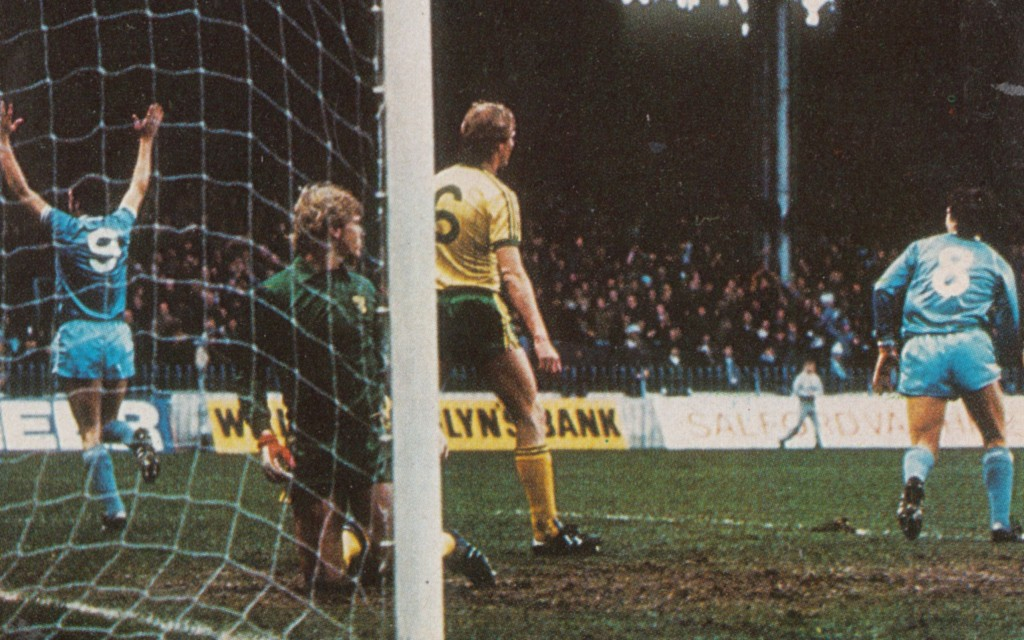 norwich home 1982 to 83 cross goal 8