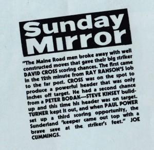 sunderland away fa cup 1982 to 83 sunday mirror