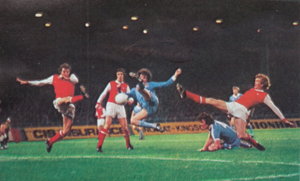 arsenal home league cup 1977 to 78 action 3