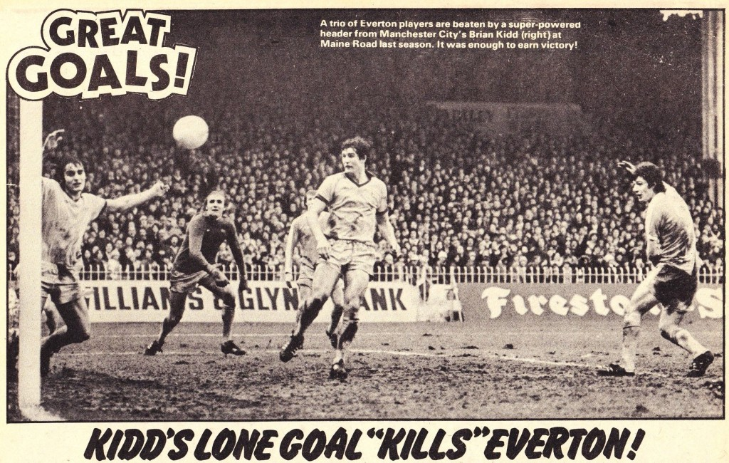 everton home 1977 to 78 rotr kidd goal