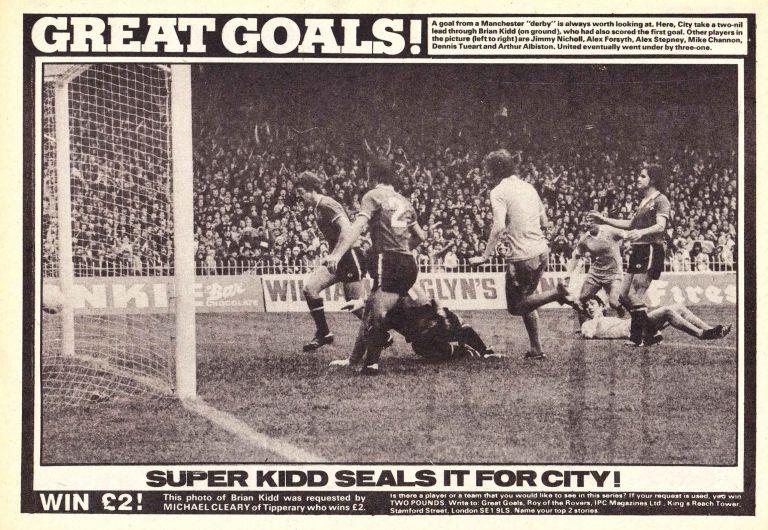 man utd home 1977 to 78 kidd goal ROTR