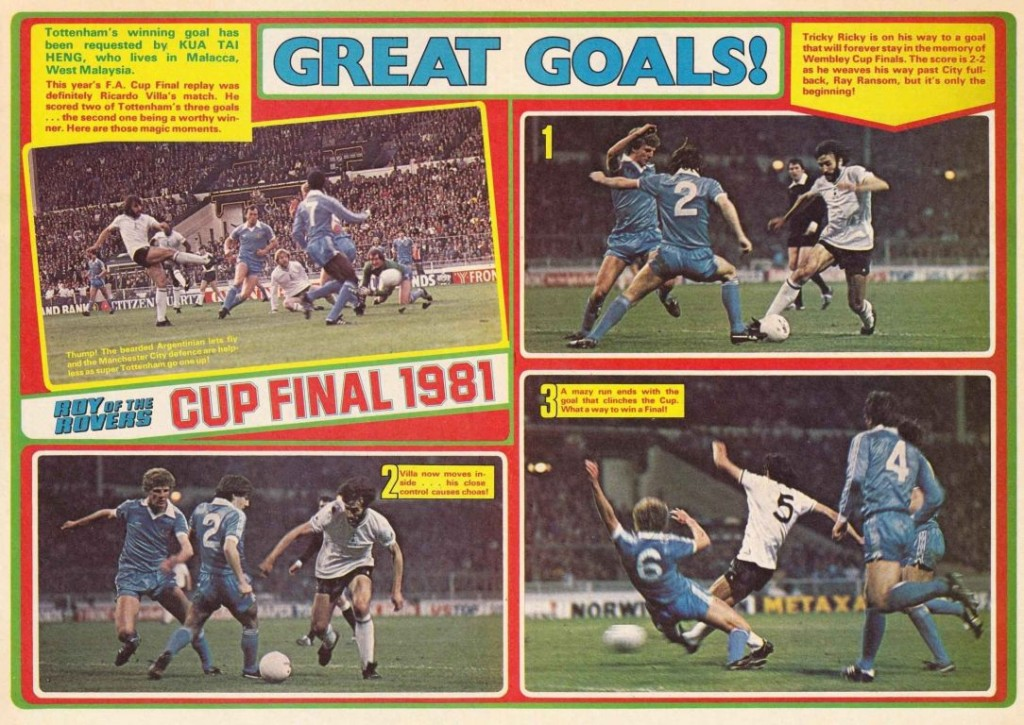 tottenhan 1981 cup final villa goal ROTR