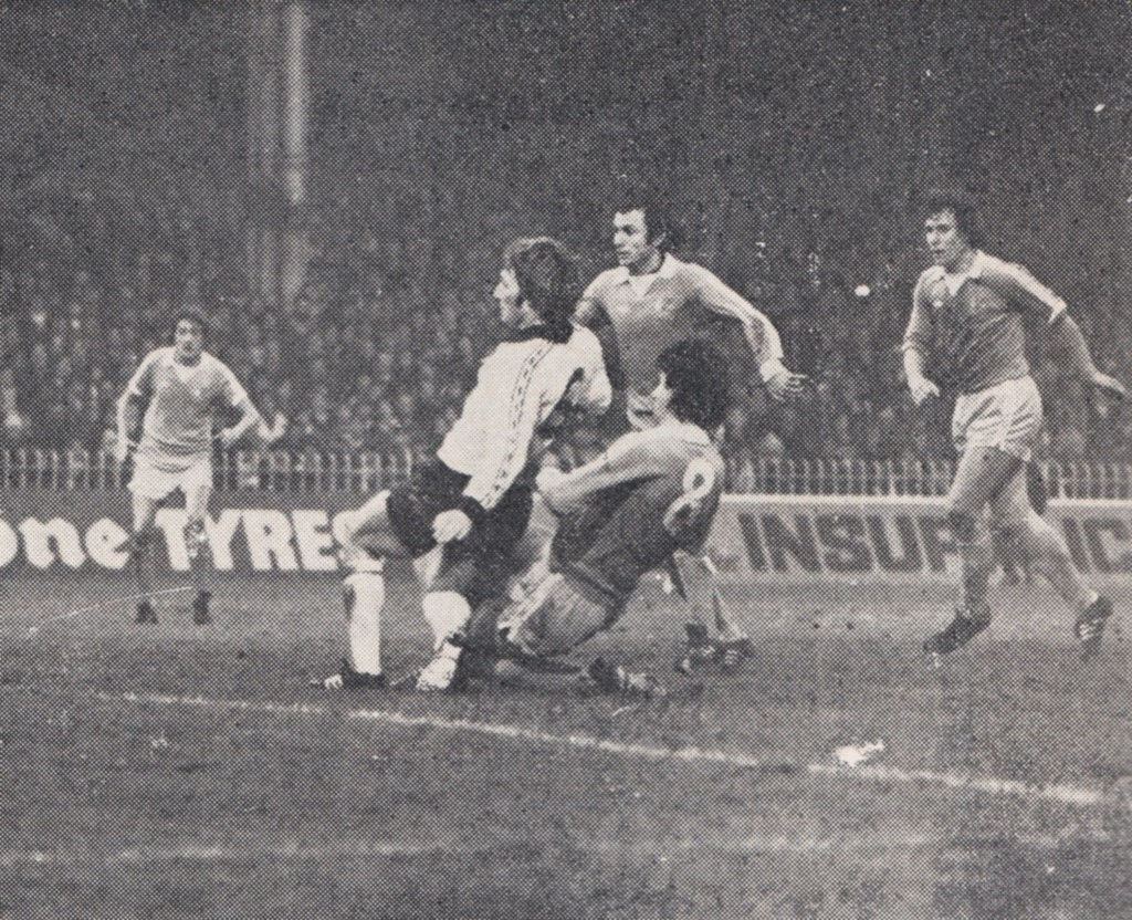 Derby home 1976 to 77 action