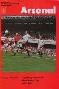 arsenal away 1976 to 77 prog