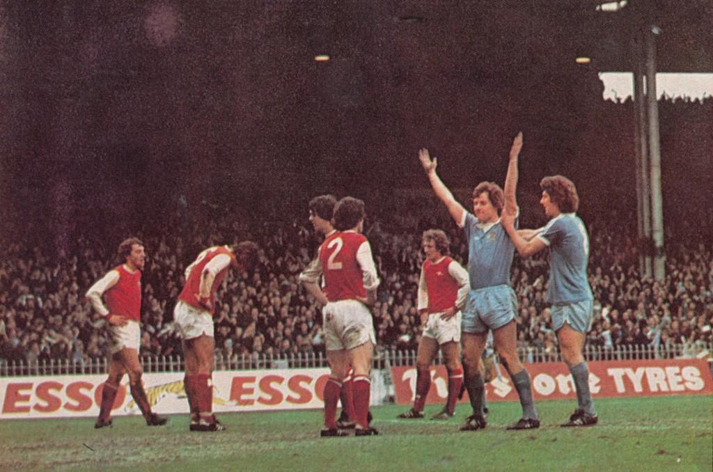 arsenal home 1976 to 77 royle goal