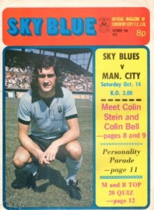 coventry away 1972 to 73 programme