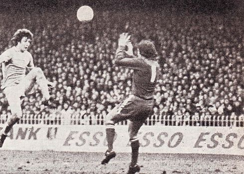 leicester home 1976 to 77 kidd 3rd goal