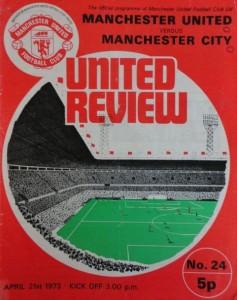 man utd away 1972 to 73 prog