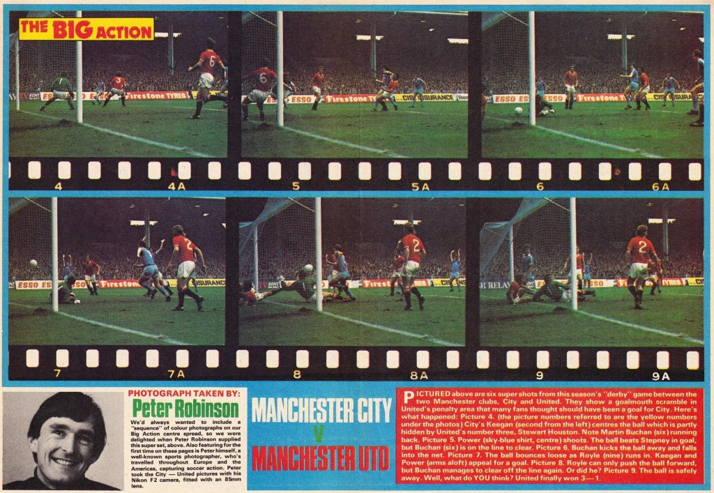 man utd home 1976 to 77 roy of the rovers 4 dec 76