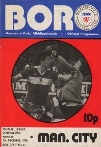 middlesbrough away 1976 to 77 prog