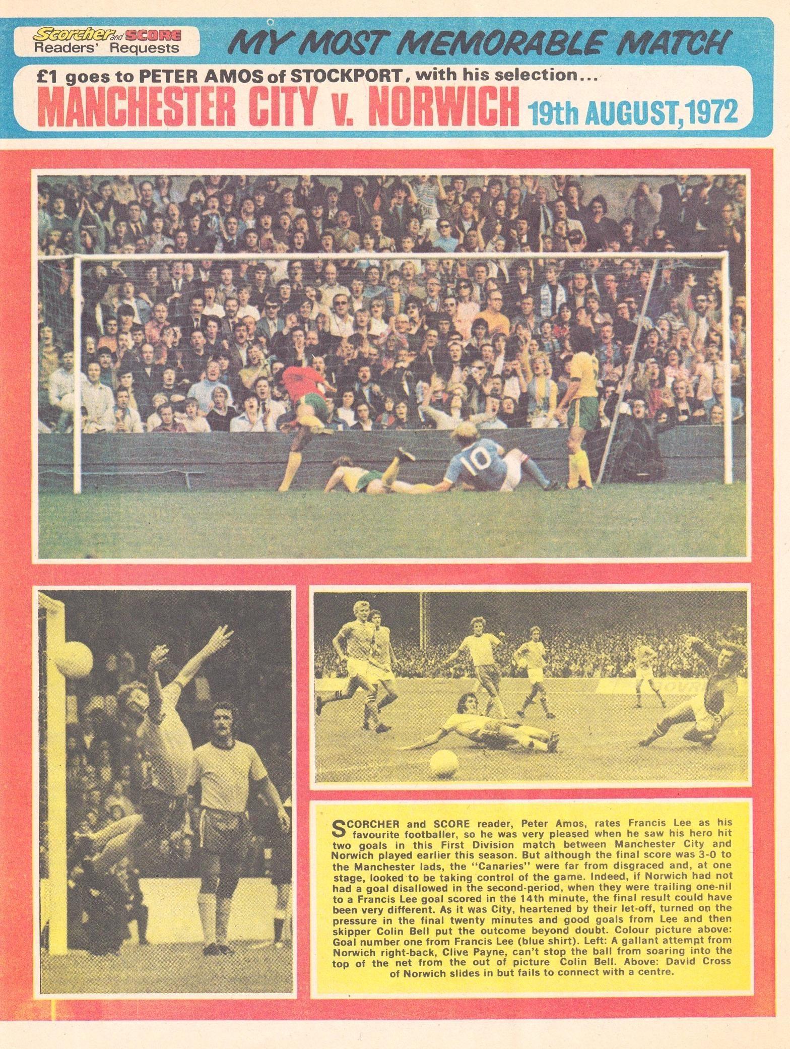norwich home 1972 to 73 scorcher 2 dec 72