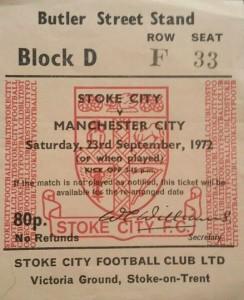 stoke away 1972 to 73 ticket