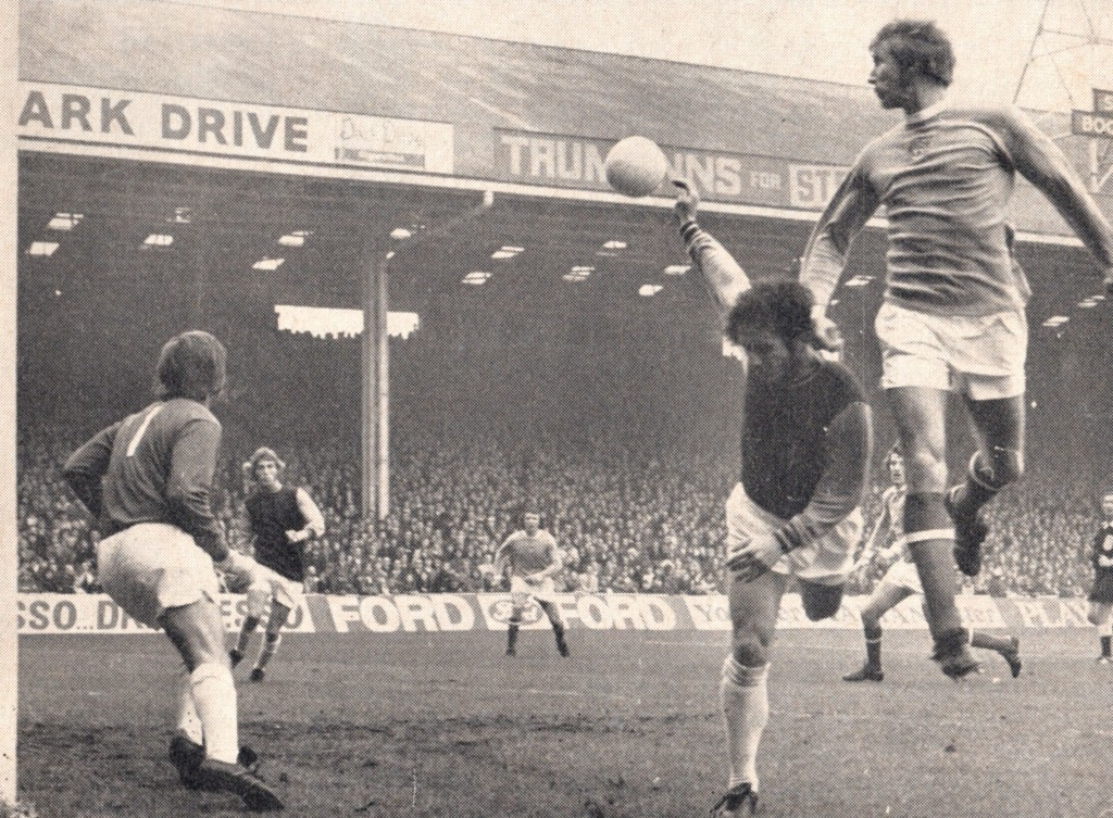 west ham home 1972 to 73 action