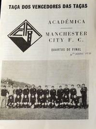 academica de coimbra away 1969-70 prog