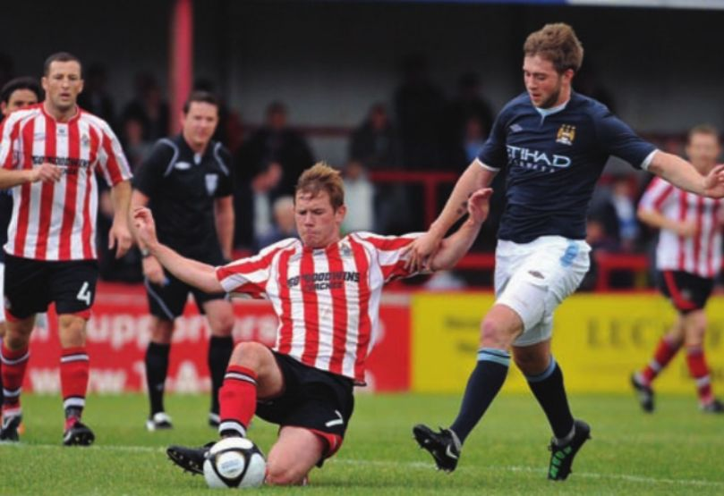 altrincham friendly 2011 to 12 action