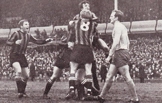 everton fa cup semi 1968 to 69 booth goal celeb