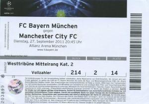 bayern munich away 2011 to 12 ticket